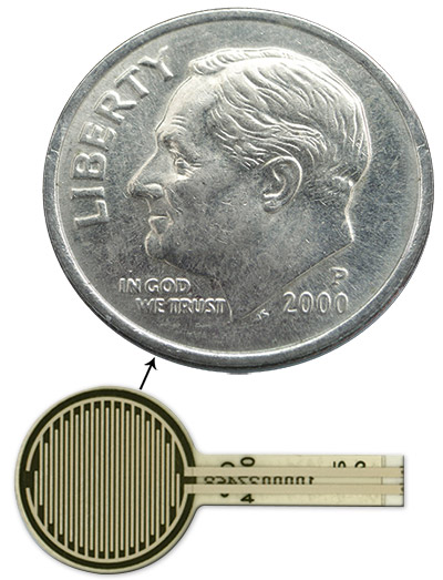 Tactilus Free Form Sensor Dime Comparison