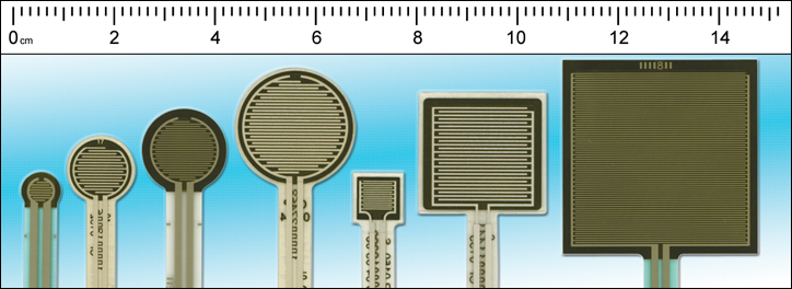 Various sensor shapes and sizes