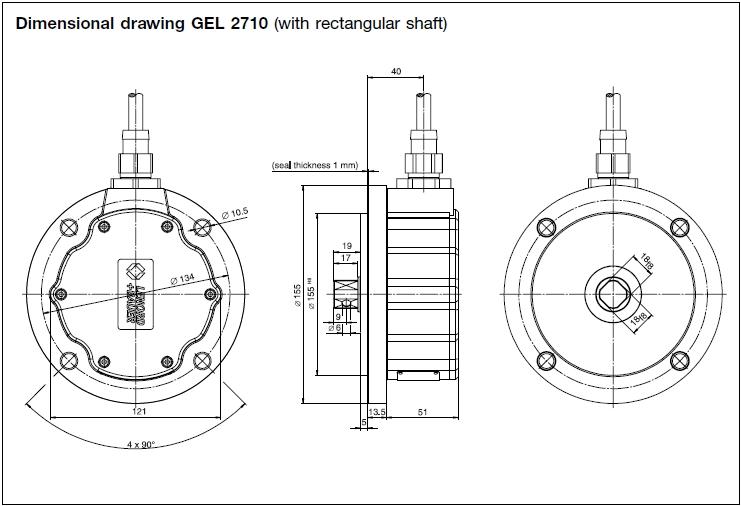Incremental Encoder Gel 2701/2710/2711 - Lenord+bauer: Rail