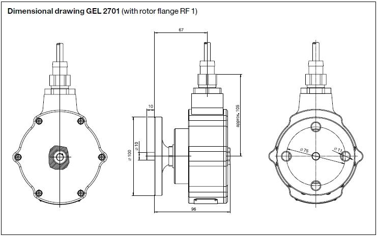 incremental encoder gel 2701  2710  2711