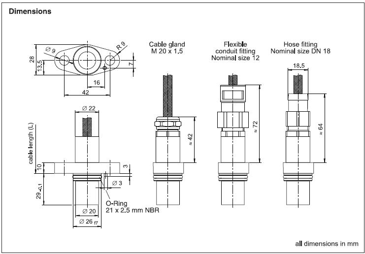 Speed Sensor Gel 2477 Lenord Bauer Rail Speed Sensors
