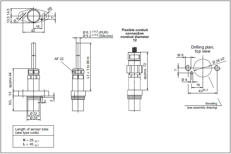 Speed Sensor Gel 2478 Lenord Bauer Rail Speed Sensors