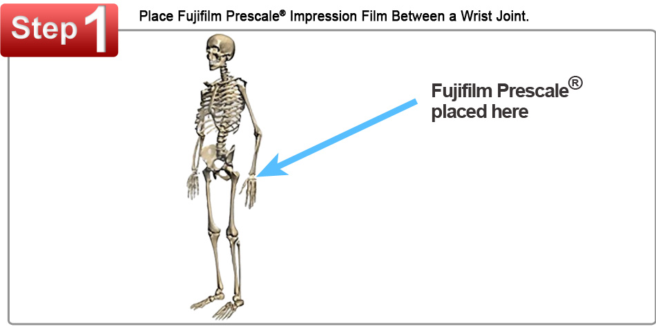 Fujifilm Prescale Film Placed Between a Wrist Joint
