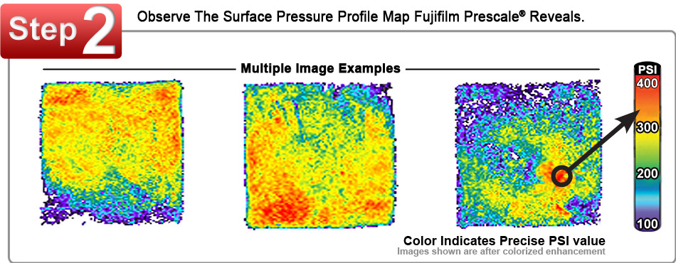Fujifilm Prescale Film After Analysis