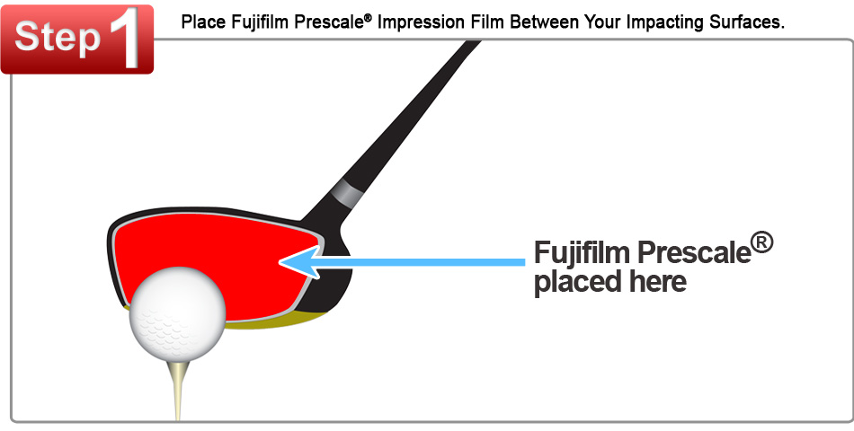 Fujifilm Prescale Film Placed on a Golf Driver