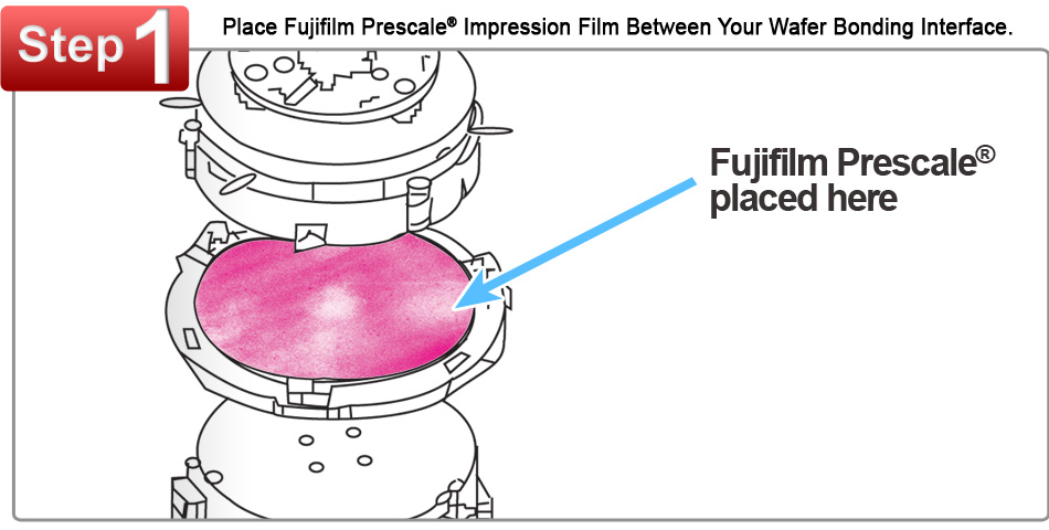 Fujifilm Prescale� Film Placed Between a Wafer Bonding Interface