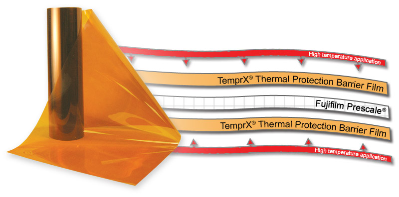 TemprX� film shields Fujifilm Prescale film from damaging temperatures.